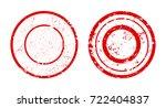 set of grunge stamp.vector... | Shutterstock .eps vector #722404837