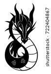 simple dragon sign | Shutterstock .eps vector #722404867