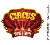 carnival circus banner with big ... | Shutterstock .eps vector #722406163