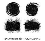 vector grunge banners.grunge... | Shutterstock .eps vector #722408443