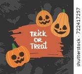 cute halloween vector... | Shutterstock .eps vector #722417257