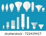 vector set of led bulbs with...   Shutterstock .eps vector #722419417