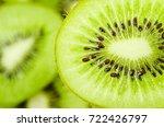 Slices Of Kiwi Fruit On Kiwi...
