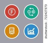 business icons set | Shutterstock .eps vector #722427373