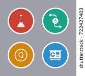 business icons set | Shutterstock .eps vector #722427403