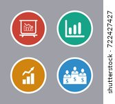 business icons set | Shutterstock .eps vector #722427427