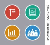 business icons set | Shutterstock .eps vector #722427487