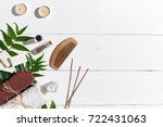 natural handmade soaps with oil ... | Shutterstock . vector #722431063