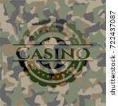 casino camouflage emblem | Shutterstock .eps vector #722437087
