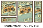 the poster in vintage style on... | Shutterstock .eps vector #722447113