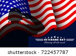 veterans day background with... | Shutterstock .eps vector #722457787