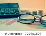 doing finances and calculate on ... | Shutterstock . vector #722461807