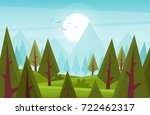 cartoon wood. vector... | Shutterstock .eps vector #722462317