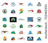 set of house icons 1 | Shutterstock .eps vector #722465353