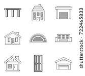 exterior icons set. outline set ...   Shutterstock .eps vector #722465833