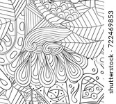 tracery seamless pattern.... | Shutterstock .eps vector #722469853