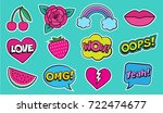 cool modern colorful patch set... | Shutterstock .eps vector #722474677