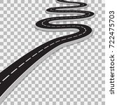 winding road with transparent... | Shutterstock .eps vector #722475703