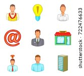 loan for business icons set.... | Shutterstock .eps vector #722476633