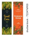 corn and tomato package design .... | Shutterstock .eps vector #722476903