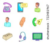 business support icons set.... | Shutterstock .eps vector #722481967