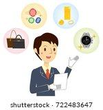 businessman who assesses brand... | Shutterstock .eps vector #722483647