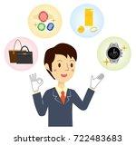 businessman who assesses brand... | Shutterstock .eps vector #722483683