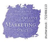 conceptual development business ... | Shutterstock . vector #722486113