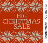 knitted christmas sale template ... | Shutterstock .eps vector #722489713