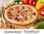 supreme pizza | Shutterstock . vector #722490127