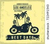 vintage composition los angeles ... | Shutterstock .eps vector #722491543