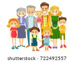 happy extended caucasian... | Shutterstock .eps vector #722492557