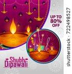 happy diwali light festival of... | Shutterstock .eps vector #722498527