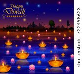 happy diwali light festival of... | Shutterstock .eps vector #722498623