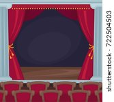 theatre stage with red velvet... | Shutterstock .eps vector #722504503