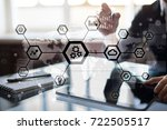 iot  automation  industry 4.0.... | Shutterstock . vector #722505517