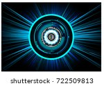 binary circuit future... | Shutterstock .eps vector #722509813