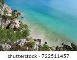 view to cliffs and ocean near l'... | Shutterstock . vector #722511457
