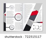 abstract vector layout... | Shutterstock .eps vector #722515117