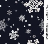 christmas seamless pattern.... | Shutterstock .eps vector #722517763