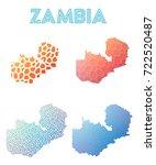 zambia geometric polygonal ...   Shutterstock .eps vector #722520487
