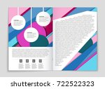 abstract vector layout... | Shutterstock .eps vector #722522323