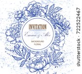 wedding invitation. vintage... | Shutterstock .eps vector #722522467