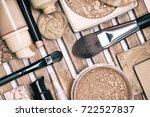 set of foundation makeup...   Shutterstock . vector #722527837
