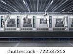 3d rendering robotic machines... | Shutterstock . vector #722537353