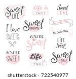 set of different typography... | Shutterstock .eps vector #722540977