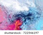 bright futuristic clouds. color ... | Shutterstock . vector #722546197