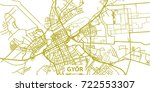 detailed vector map of gyor in... | Shutterstock .eps vector #722553307