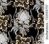 elegant classic pattern.... | Shutterstock . vector #722553757