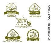 olives icons for olive oil...   Shutterstock .eps vector #722574607